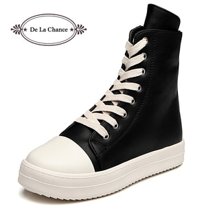 Fashion Autumn Winter Zipper Women Boots Plus Size Leather Boots Platform Shoes High Top Short Ankle Boots Zips Ladies Shoes