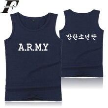 ORDU Kore Adı Tankı Üstleri Baskı Hip Hop Yaz Kolsuz Erkek/Kadın Egzersiz Rahat Tarzı Elbise Artı Boyutu