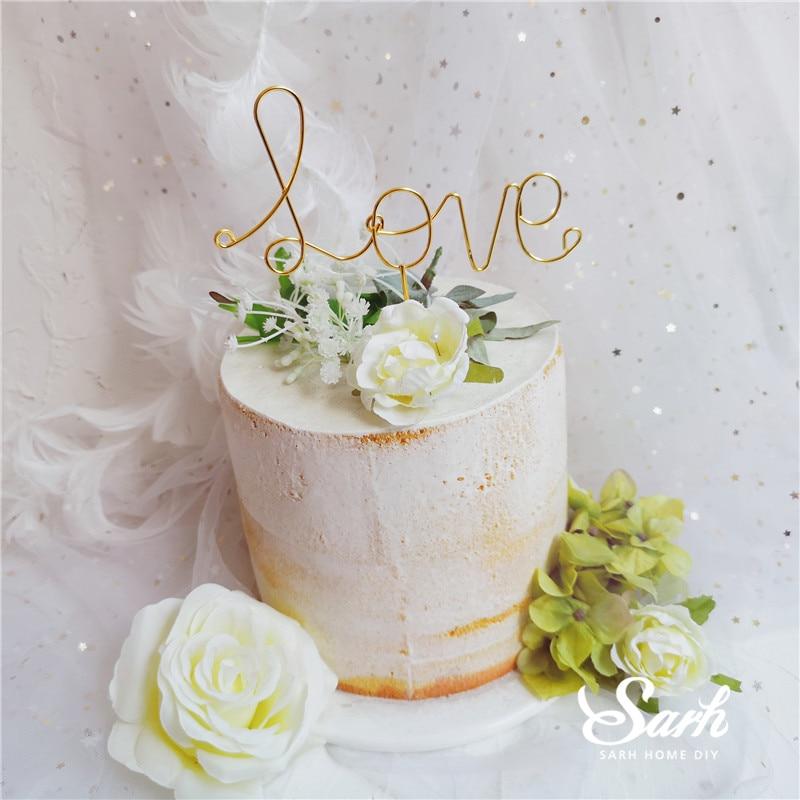 Украшения для торта с железной любовью, венок с Луной и звездой, вечерние украшения на День святого Валентина для выпечки, прекрасные подарк...