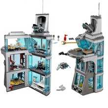 511Pcs star wars Marvel Super hero Iron Man Attack On Avenger Tower modello Building Blocks copmatable star wars