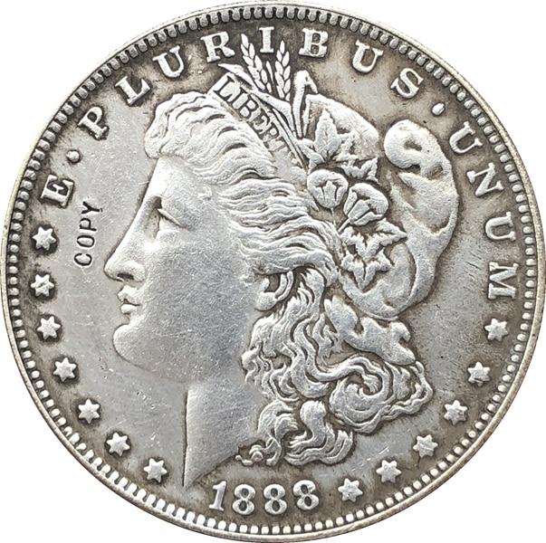 1888 dólar Morgan de EUA monedas copia
