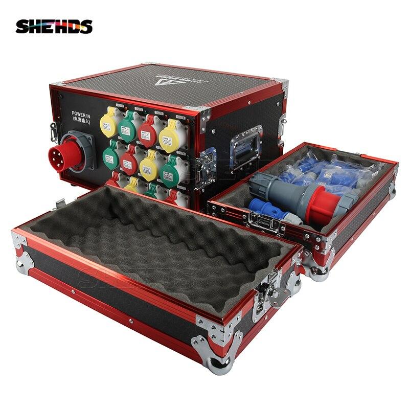 Caja de distribución de suministro de energía 7U estándar internacional caja de distribución 16A-12Channel bueno para espectáculo al aire libre y espectáculo grande