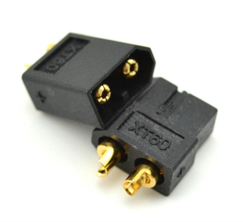 500 pares negro de alta calidad XT60 XT-60 XT 60 enchufe macho hembra chapado en oro Banana enchufe para batería RC Lipo