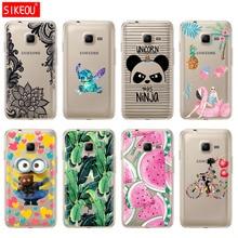Fall FÜR Samsung Galaxy J1 Mini Fall Abdeckung 2016 J105 J105F Nette Panda Wassermelone Banane Blatt Flamingo Hund Katze Design