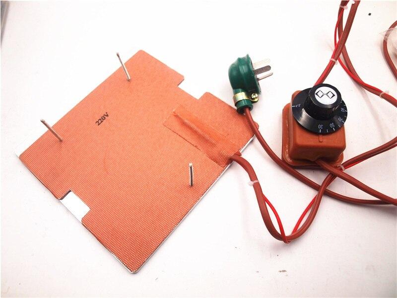 120 فولت/220 فولت 250 واط سيليكون سخان + الألومنيوم قاعدة لوحة + الزجاج ساخنة السرير ترقية عدة ل flashforge مكتشف 3D طابعة