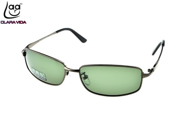 = CLARA VIDA= Custom Made NEARSIGHTED MINUS PRESCRIPTION LARGE FULL RIM GREY GOOGLE MENS Designers Polarized sunglasses -1 to -6