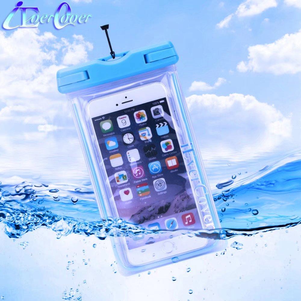 Luminoso impermeable carcasa de teléfono con bolsa para laberinto Alpha & alfa X/laberinto cometa/cuchilla bajo el agua cubierta Capa Fundas