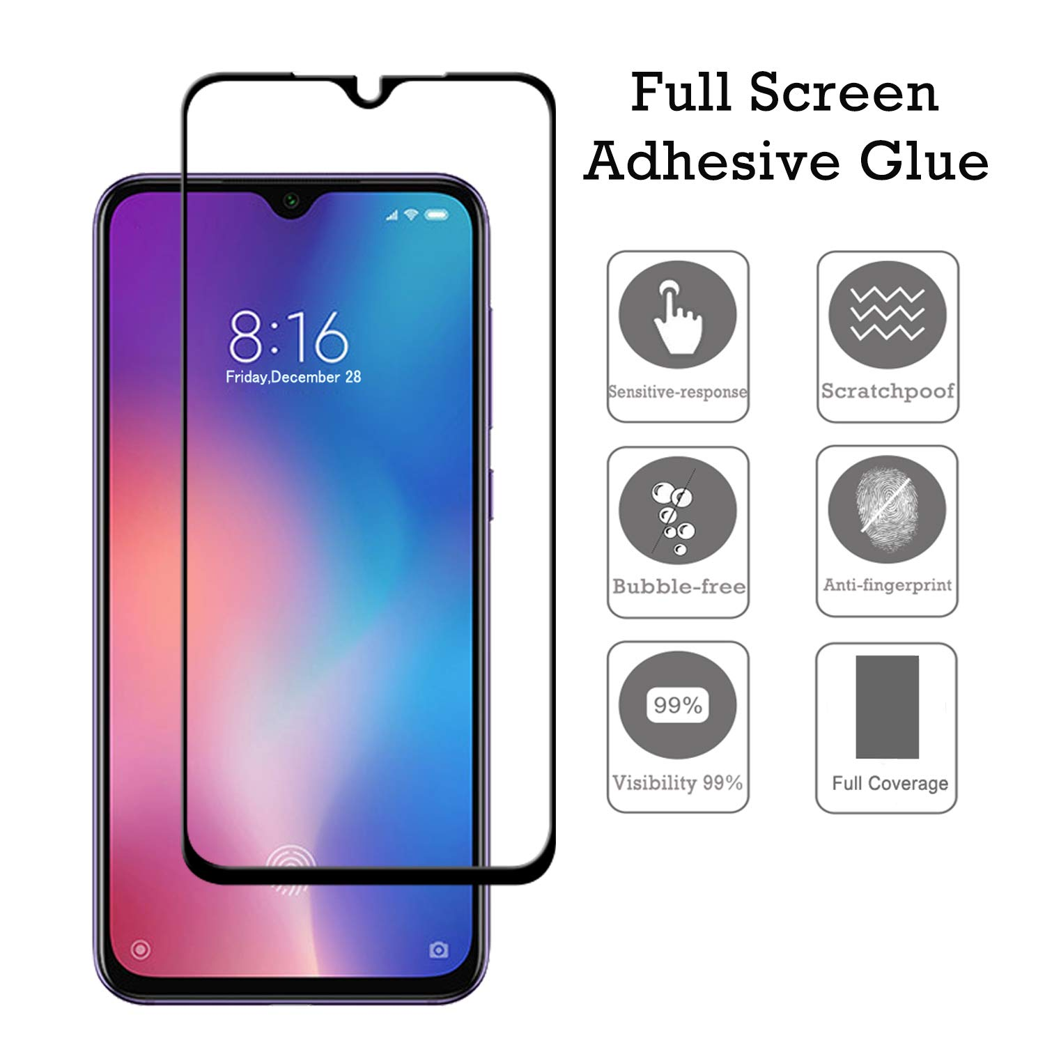 Full Cover Glass Film For Xiaomi Mi 9 SE Screen Protector HD Clear 9H Mi9 SE Tempered Glass for Xiao