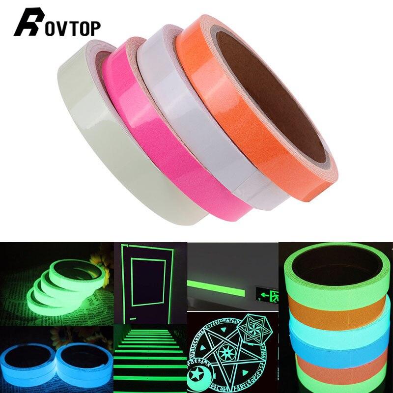 Cinta adhesiva luminosa 3 M, brillo de alta luminosidad, extraíble, impermeable, brillo fotoluminiscente en la oscuridad, cinta de advertencia de seguridad