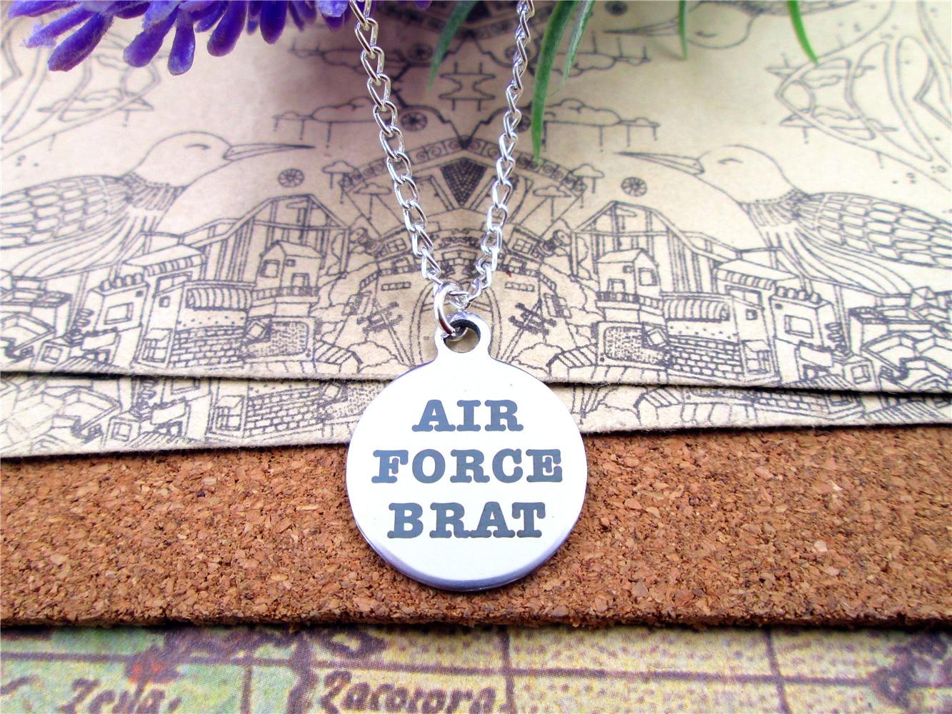 """Moda aço inoxidável colar """"força aérea pirralho"""" encantos pingente colar jóias presente mais estilo para escolher"""