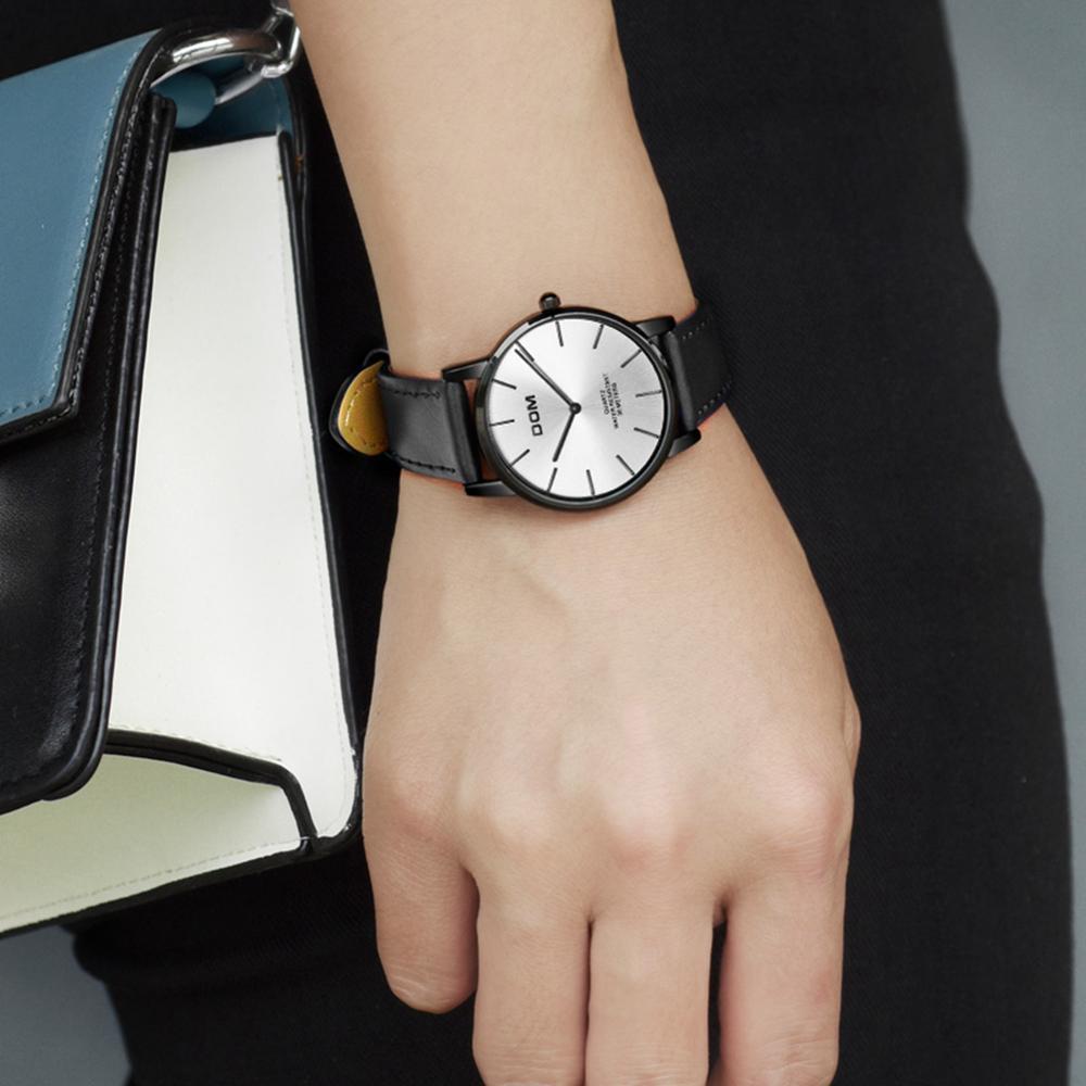DOM Watch Women Top Brand Luxury Ladies Watch Waterproof Ultra thin leather Quartz Wrist Watch Lady Montre Femme G-36BL-7MT enlarge
