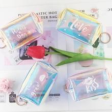BOTUSI Кошельки для монет, женские кошельки, маленькие милые каваи, держатель для карт, сумка для ключей, ПВХ, сумка для карт, блестящие кошельки...