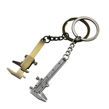 1pcs Mini vernier caliper keychain portable tool Zinc alloy keychain tool pendant 0-40mm