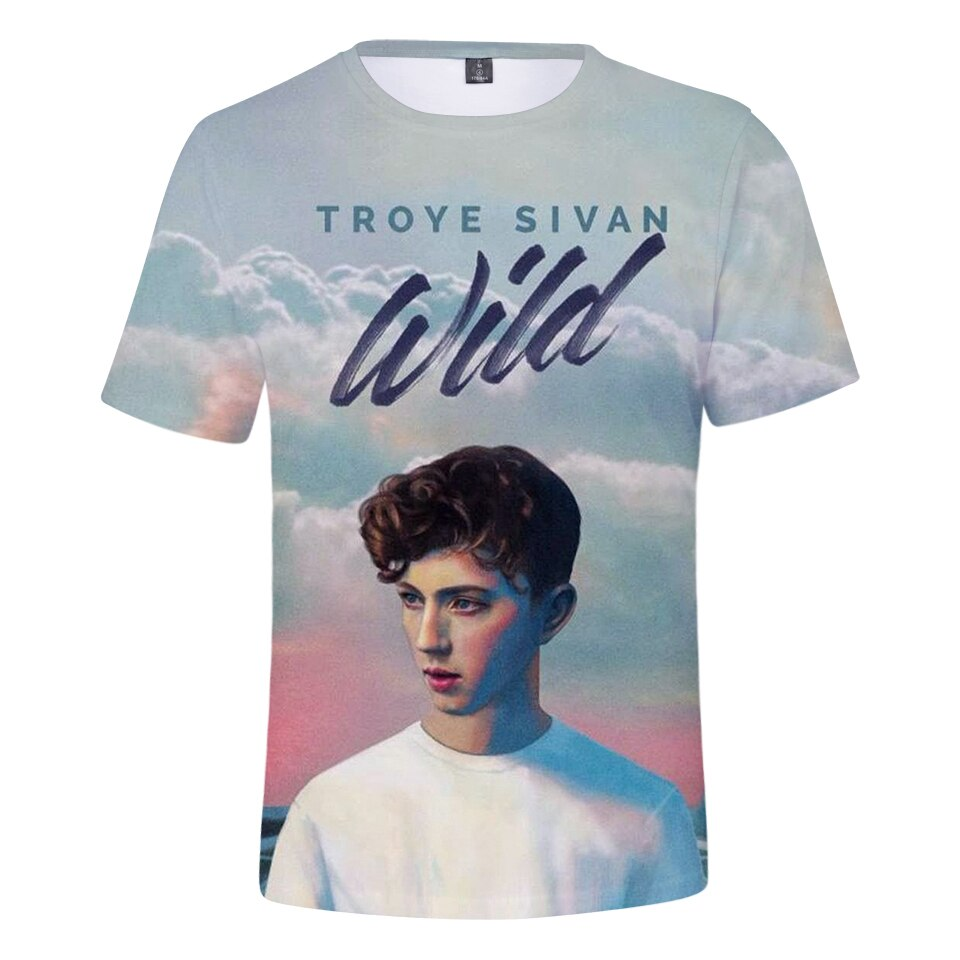 2019 New popular Singer Troye Sivan 3D T Shirt Men/women Summer Fashion Harajuku T-shirt 3D Print Troye Sivan Men's T Shirts