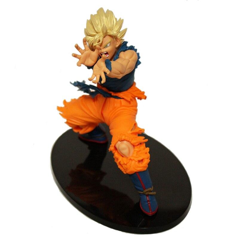 18CM de la bola del dragón del Anime Z hijo de Goku de Banpresto de Dragon Ball Z maestro estrellas pieza MSP figura de acción Super Saiyan en miniatura muñeca de juguete