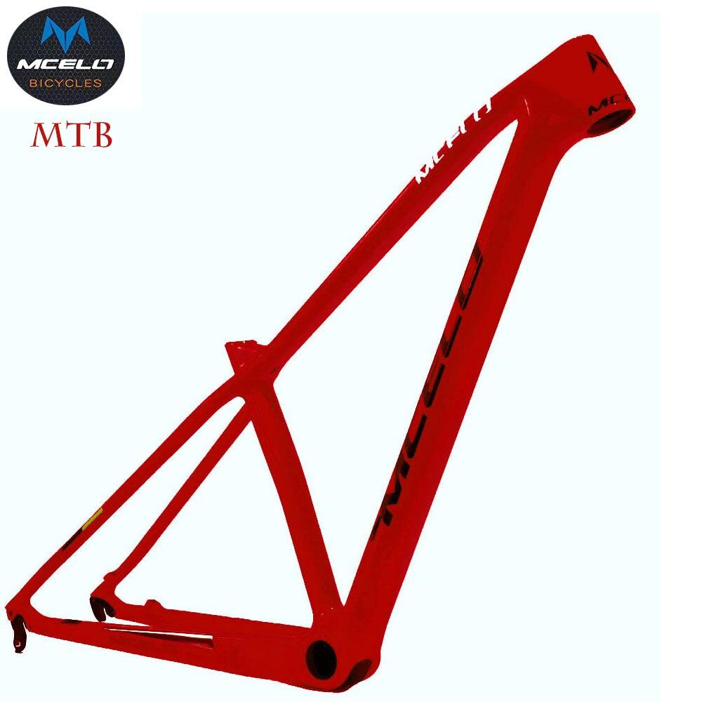 Cuadro de bicicleta de montaña de carbono 2019 MCELO brand T800 29er mtb Cuadro De Carbono 29 Cuadro de bicicleta de montaña de carbono 142*12 o 135*9mm Marco de bicicleta