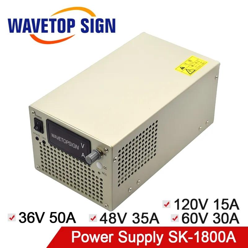 WaveTopSign SK-1800A מיתוג אספקת חשמל 36V 50A 48V 35A 60V 30A 120V 15A להשתמש למעבדה