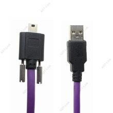 USB Mini 2.0 Vision industrielle câble de caméra Mini USB 5Pin avec verrouillage à vis pour Image de Source HIKVISION Daheng