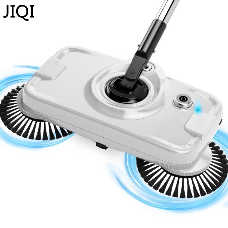 JIQI Chargable Hand-push fegt wischen maschine Kehrmaschine mopp wireless haushalts geräte reiniger kehrschaufel-set besen artefakt