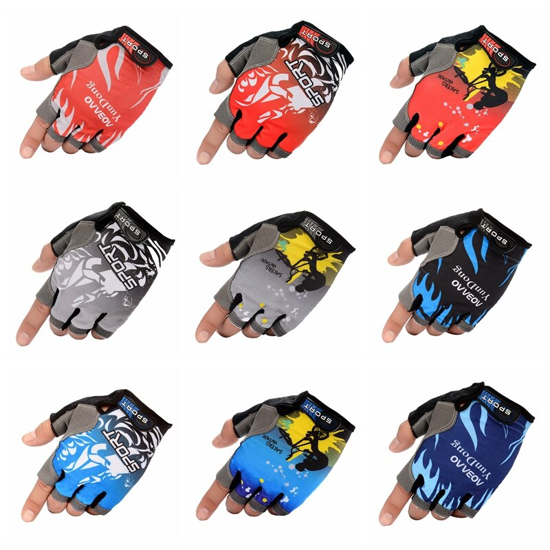 Half Finger Breathable Cycling Gloves Anti-Slip Gel Motorcycle MTB Mountain Road Bike Glove Men Women Sports Fishing Gloves