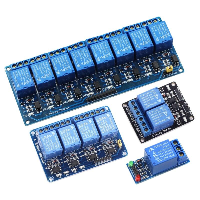 1 2 4 8 канальный DC 5 В релейный модуль с оптроном низкий уровень триггера Плата расширения для Arduino DIY Kit Raspberry Pi