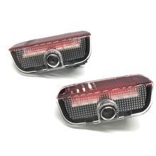 JURUS 2 pièces Logo de voiture à LED lumière de porte pour SKODA superbe 2009-2015 lumières lampe de Projection fantôme ombre bienvenue lumière Auto accessoires