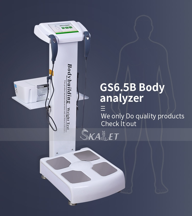 Newest Electronic Human Body Height Weighing Scale Human Body Elements Analyzer Body Fat Analyzer with Printer for Beau