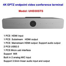 Terminal de conférence vidéo 1080P   terminal Ultra 4K HD, caméra WIFI IP USB HD avec entrée/sortie HDMI
