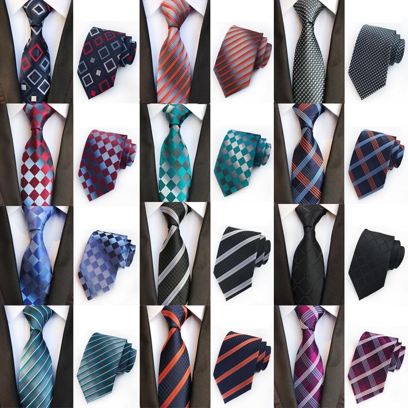 Высококлассные мужские галстуки в клетку, мужские деловые вечерние свадебные галстуки, галстуки, праздничные подарки, аксессуары 8 см