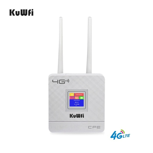 KuWfi 300Mbps Wireless CPE 4G LTE Wifi enrutador FDD TDD LTE WCDMA GSM Global desbloquear antenas externas de la ranura para tarjeta SIM WAN/LAN puerto