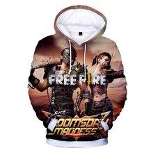 Freies Feuer 3D Hoodies jungen mädchen kinder Video Spiel Streetwear Hoodie Sweatshirt Casual Gamer Kleidung Mode Anime mäntel Jacke