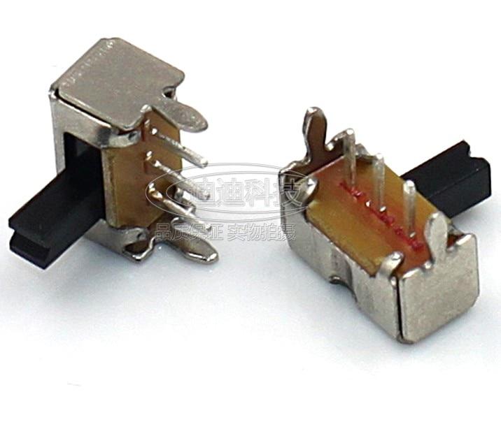 50Pcs 3 Pin PCB 2 Position 1P2T SPDT Miniature Slide Switch Side Knob SK12D07VG4