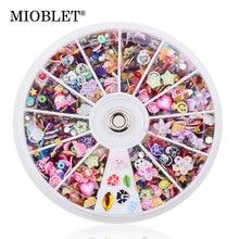 MIOBLET nouveau mixte résine ongle Sequin dans la roue coloré paillettes ongles Art conseils tranche décoration strass bricolage conception manucure