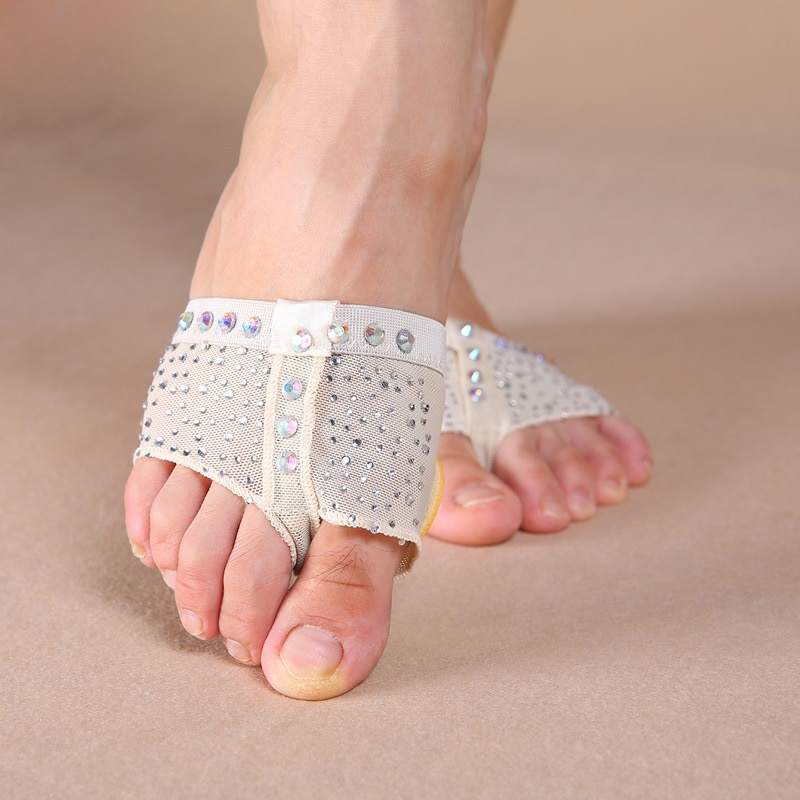 Женская Базовая стрейчевая танцевальная обувь с блестками, без шнурков, мягкая балетная обувь для девушек, аксессуары для танца живота