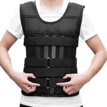 15kg 20kg 50kg Loading Weighted Vest For Boxing Training Equipment Adjustable Exercise Black  Swat Sanda Sparring Protect