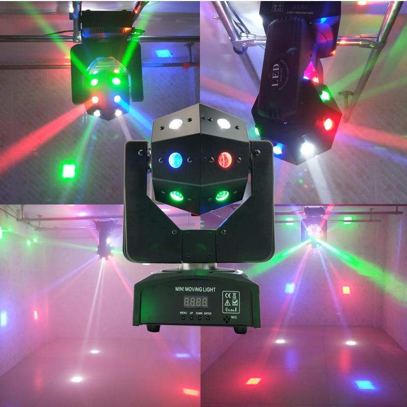 Nuevo 16 luces estroboscópicas láser rojo verde 3 en 1 luces con cabezales móviles 16X3W RGBW coloridos faros con haz móvil