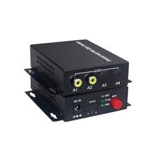 2 Audio Over FC glasvezel Extender (een manier) Zender en Ontvanger, voor Audio intercom broadcast system (Tx/Rx) Kit