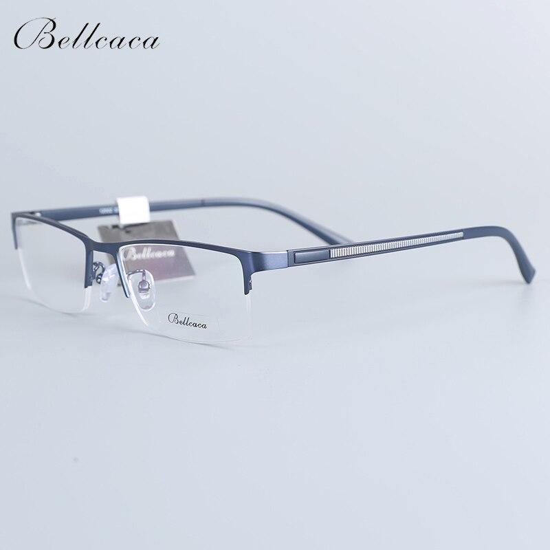 Bellcaca Spectacle Frame Men Eyeglasses Nerd Computer Optical Transparent Clear Lens Eye Glasses Frame For Male Eyewear 12002