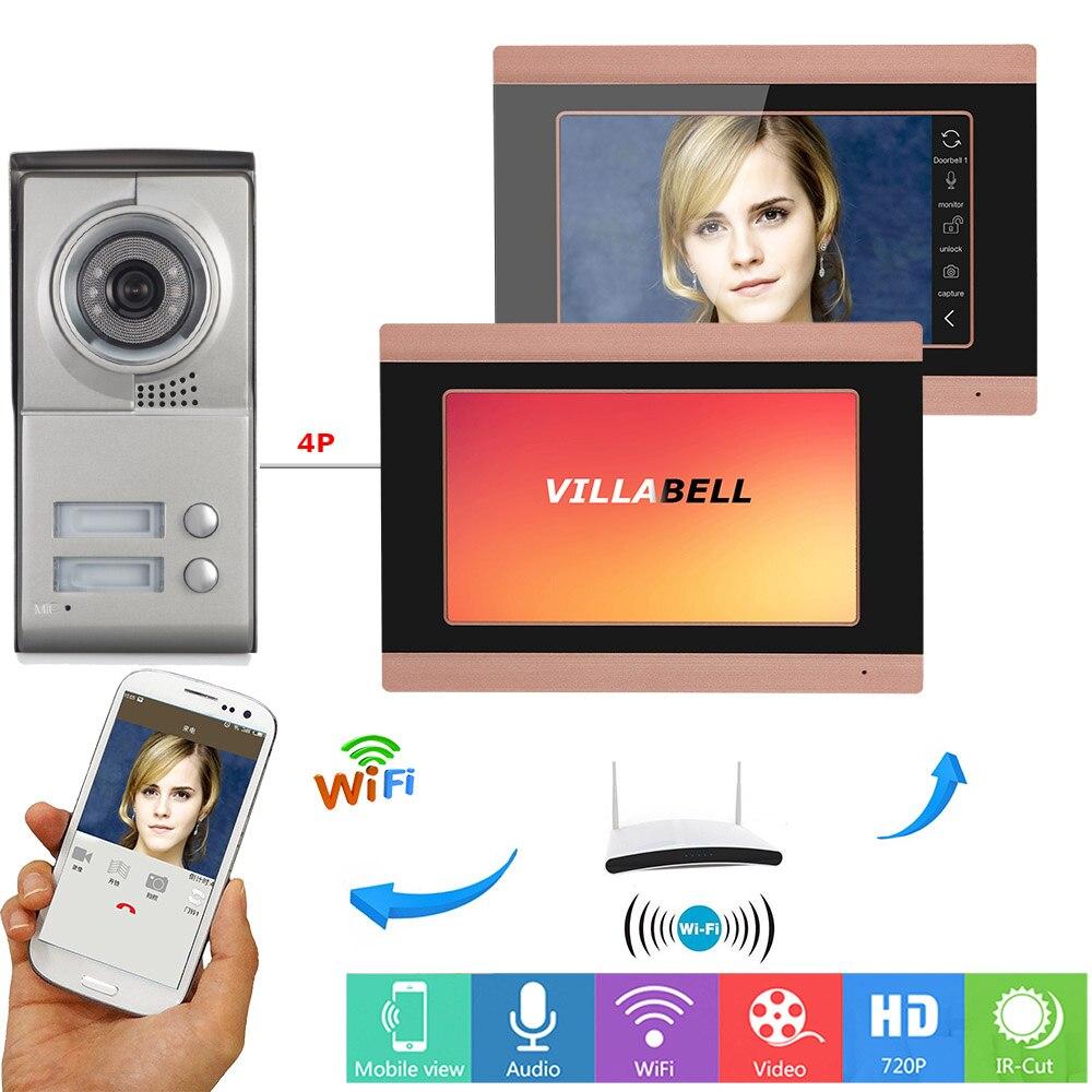 SmartYIBA Wifi inalámbrico vídeo Visual timbre de puerta teléfono Kit de sistema de portero automático aplicación remota Control para 2/3 Unidad de Seguridad de apartamento