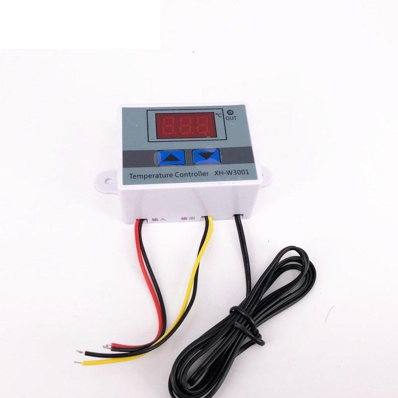 12 В/24 В/220 В W3001 цифровой светодиодный контроллер температуры 10A термостат переключатель управления Зонд XH-W3001