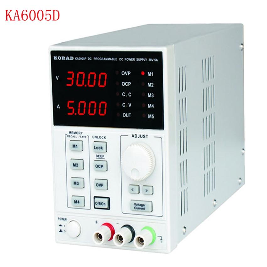 KA6005D-مزود طاقة خطي رقمي منظم ، درجة مختبر رقمية قابلة للتعديل ، 60 فولت ، 5 أمبير