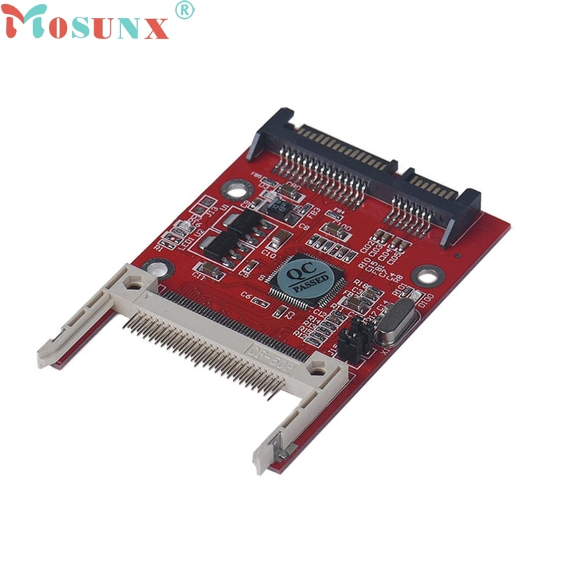 Mosunx Mecall 1PC CF Flash Compact Type I/II à 2.5 pouces SATA adaptateur série