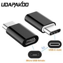 2 pièces Micro USB à Type C USB chargeur adaptateur convertisseur pour Samsung galaxy S9 A3 A5 A7 2017 A8 2018 Bluboo S8 Doogee Mix 2