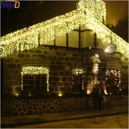 new year garland led christmas lights outdoor luces navidad led cristmas lights decoration waterfull string light luzes de natal IWHD 10X1M Garland LED Christmas Lights 110/220V New Year Decoration LED Fairy Lights Cortina De Led Cristmas Light