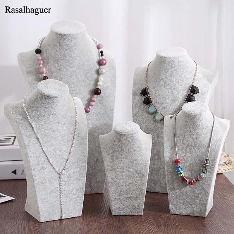 Новое поступление ледяной серый бархат модель ювелирных изделий полка для ожерелий кулон дисплей ювелирных изделий дисплей ожерелье Рамка...