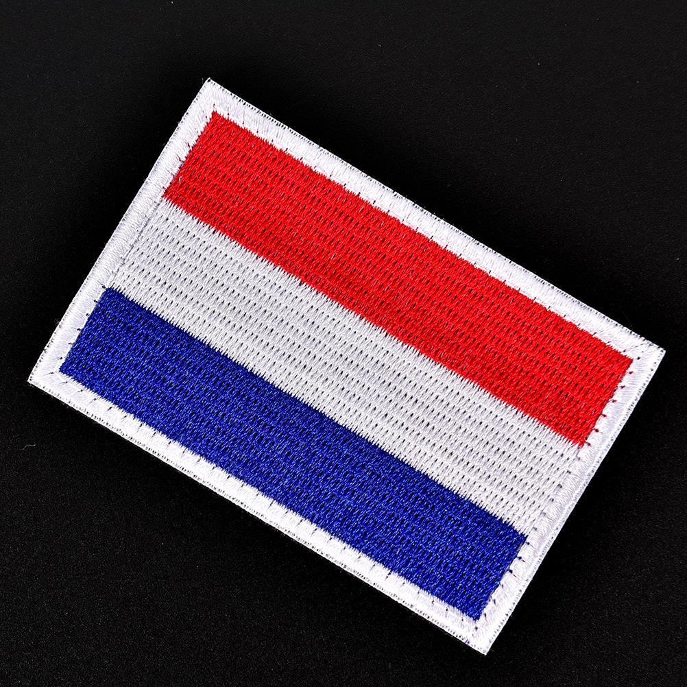 Parche táctico bordado militar para ropa, Parche de insignia, brazalete holandés, bandera nacional de Holanda, apliques, parches