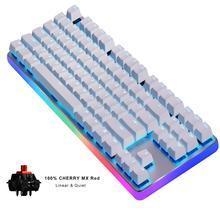 GK87 PRO Mechanische Toetsenbord Tenkeyless 87-Key RGB Backlit USB Bedrade Gaming Toetsenbord-Cherry MX RED Switch (QWERTY-Layout)