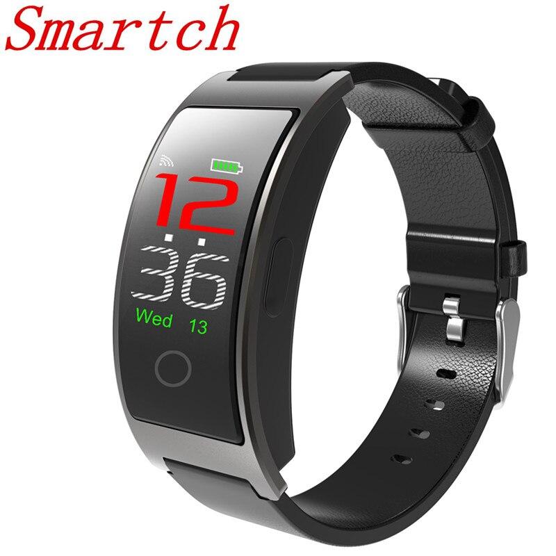 Smartch CK11C pulsera inteligente banda presión arterial rastreador de ritmo cardíaco Passometer CK11S Deporte Fitness Bluetooth pulsera inteligente