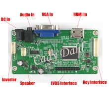 """HDMI y audio VGA placa controladora LCD para 14 """"N140HCE CEA Abe B140HAN01.1 B140HAN03.0 1920x1080 EDP 2 carriles 30 panel de pines LCD"""