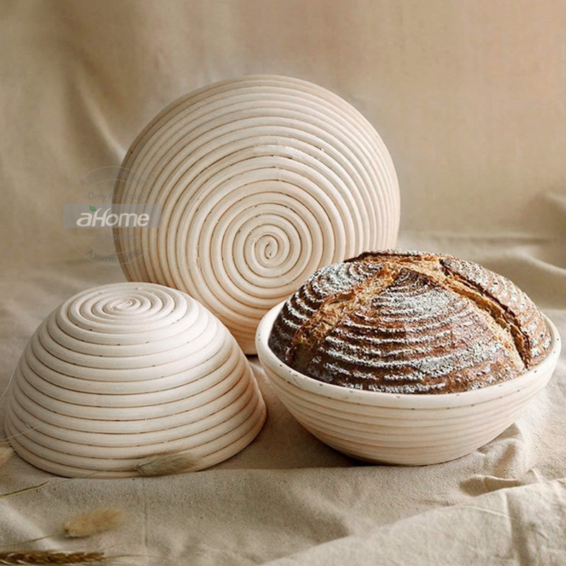 Cesta de pan de ratán, molde para masa de panadería, Banneton Brotform, pan de prueba, fermentación, cestas campestres, herramientas para hornear